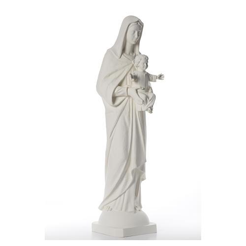 Madonna con bimbo 110 cm vetroresina bianca 4