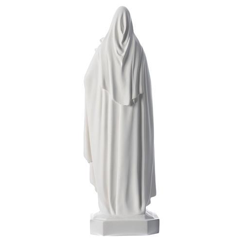 Sainte Thérèse en fibre de verre blanche 60cm 4