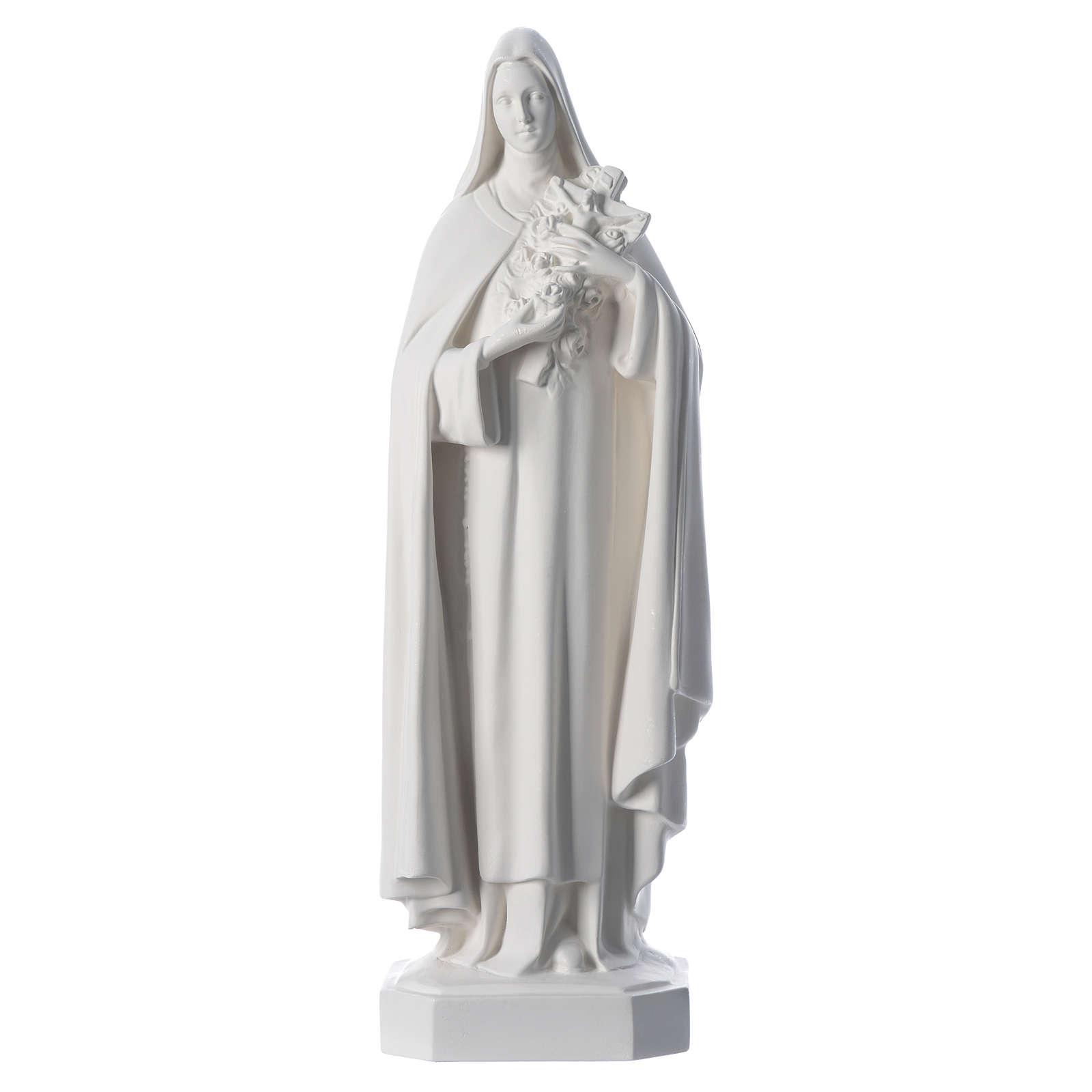 Saint Teresa white fiberglass statue, 60 cm 4