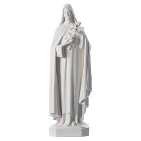 Saint Teresa white fiberglass statue, 60 cm s1