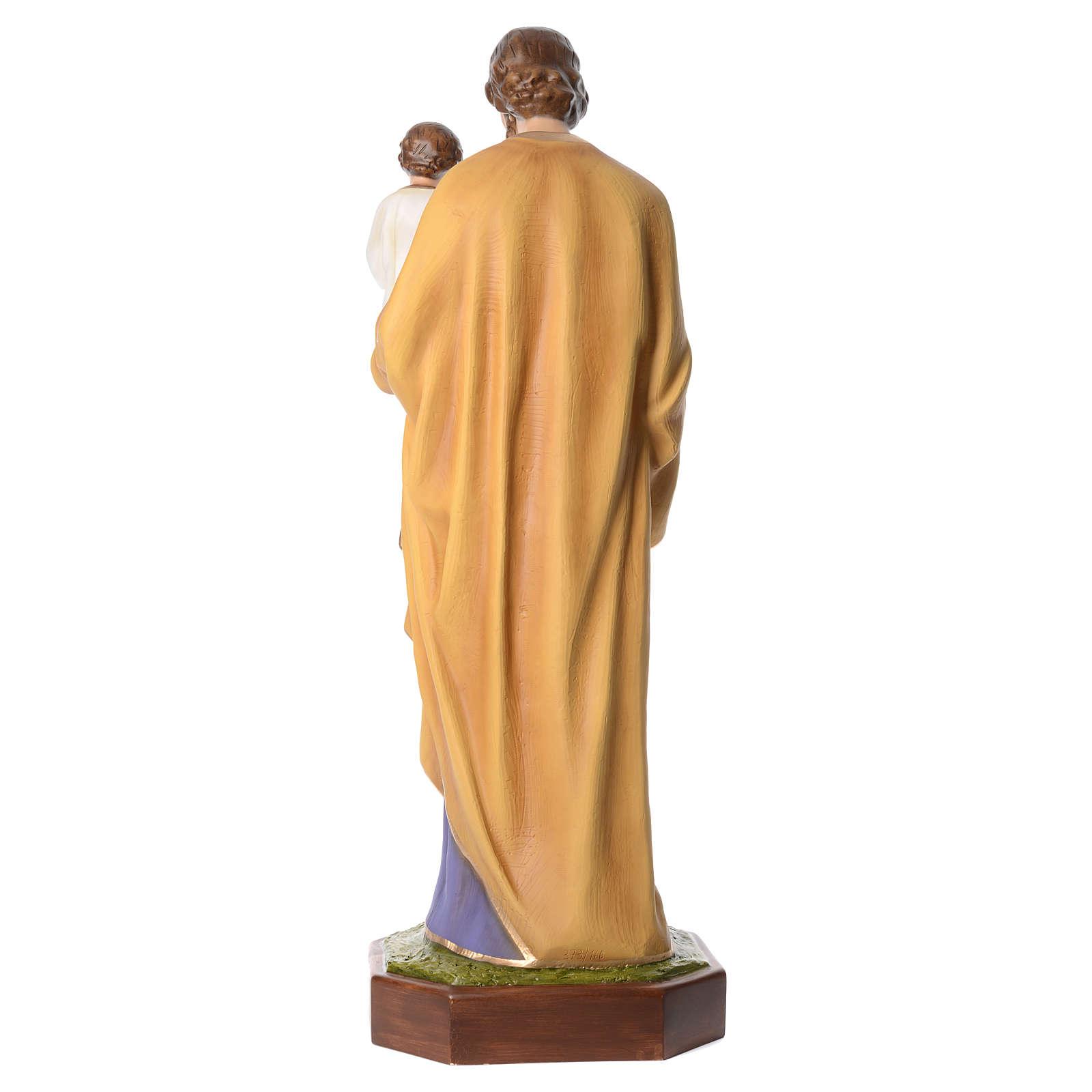 San José con el Niño Jesús 160 cm de fibra de vidrio con ojos de cristal 4
