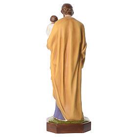 San José con el Niño Jesús 160 cm de fibra de vidrio con ojos de cristal s4