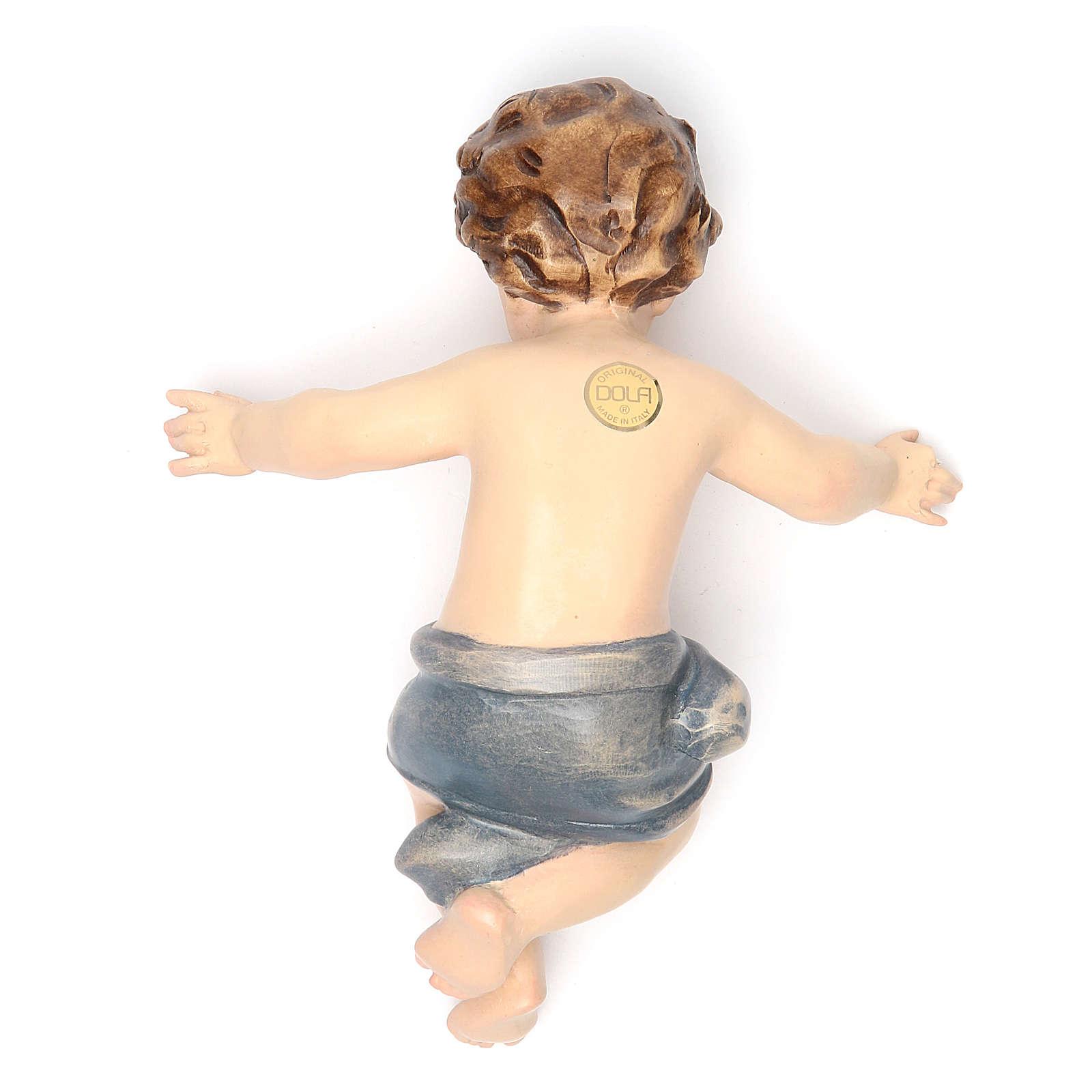 Bambinello Gesù 20 cm vetroresina per presepe 4