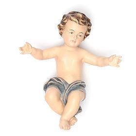 Bambinello Gesù 20 cm vetroresina per presepe s1