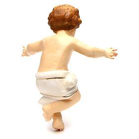 Bambinello Gesù Vetroresina braccia aperte drappo bianco s4