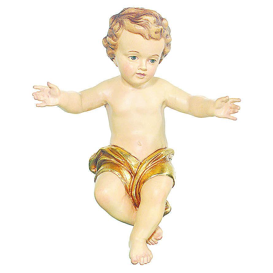 Bambinello Gesù Vetroresina braccia aperte drappo dorato 3