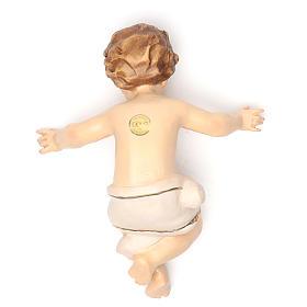Bambinello Gesù 20 cm fiberglass veste bianca s2