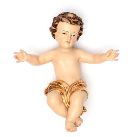 Fibreglass statues: Baby Jesus 20 cm in fiberglass with gold dress