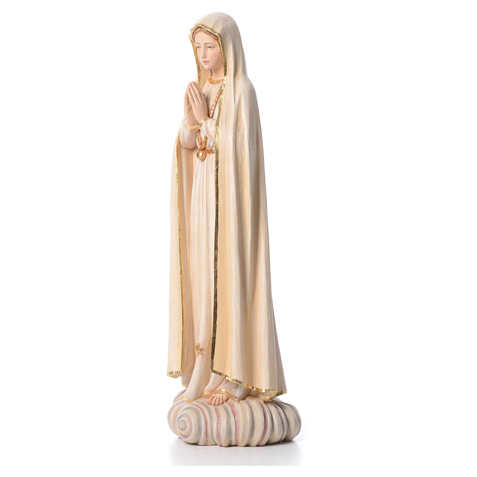 Virgen de Fátima 100 cm  fibra de vidrio pintada de la Val Gardena 4