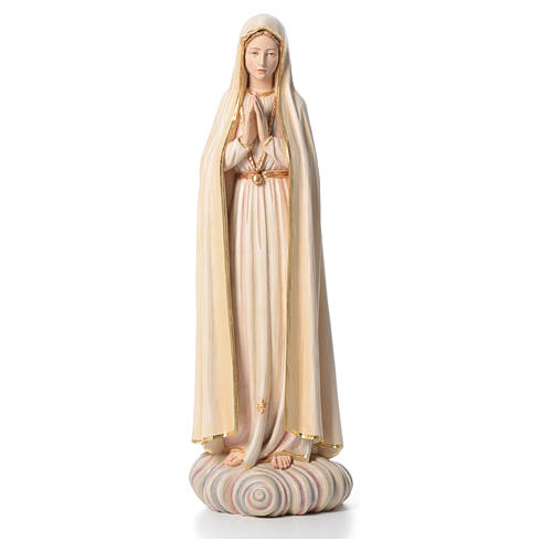 Virgen de Fátima 100 cm  fibra de vidrio pintada de la Val Gardena 1