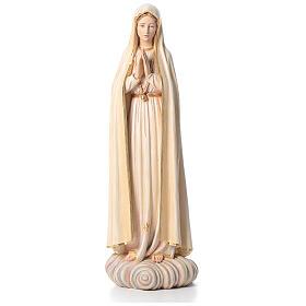 Nossa Senhora Fátima 100 cm fibra vidro corada Val Gardena