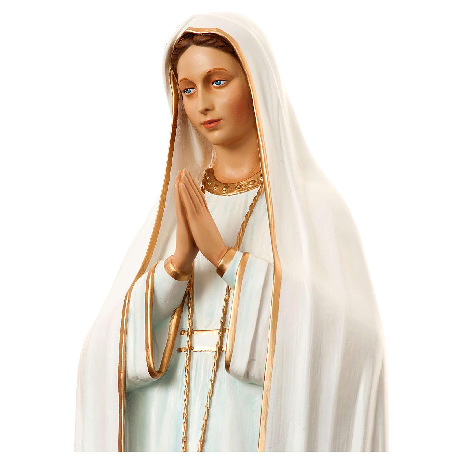 Nossa Senhora de Fátima 180 cm fibra de vidro pintada 4