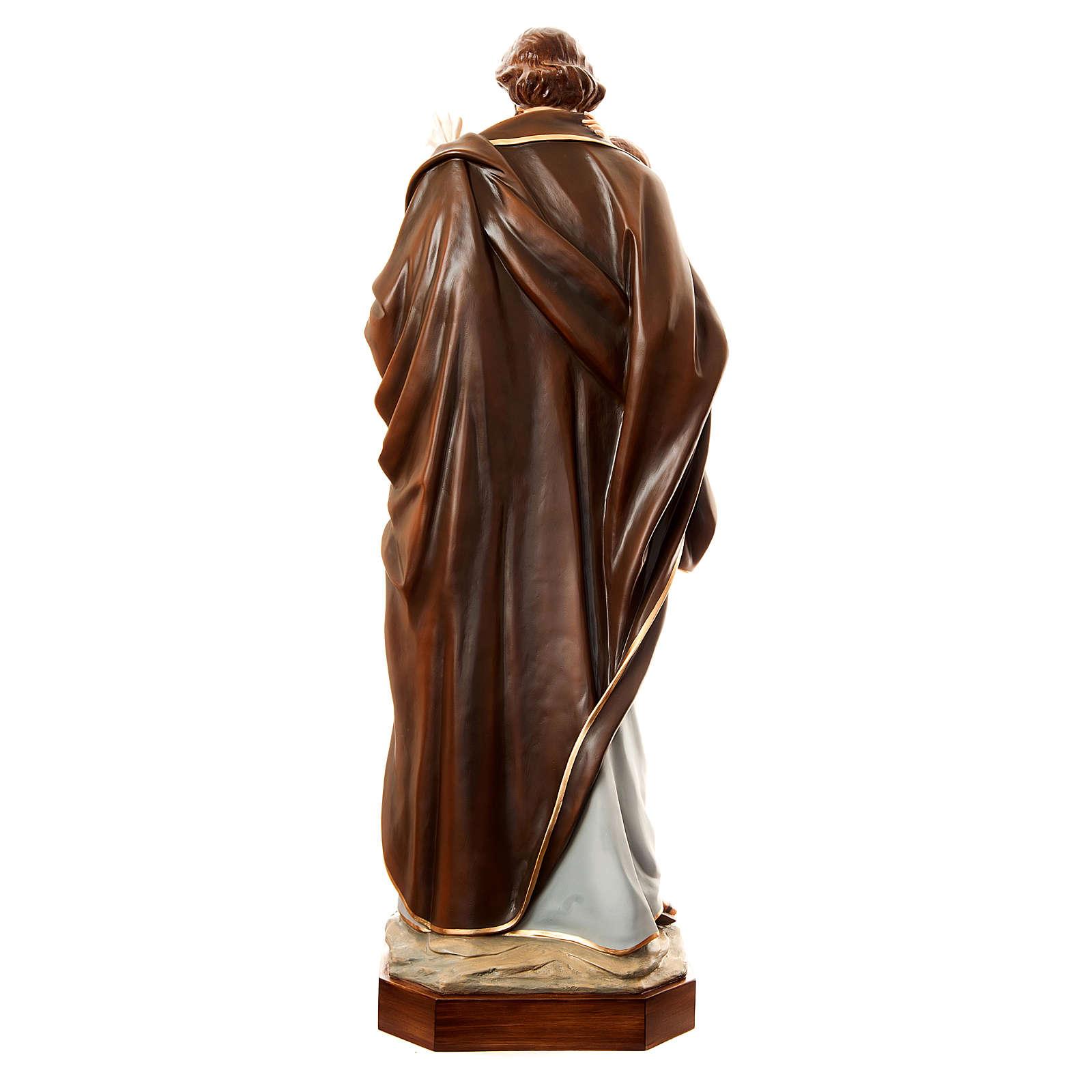 San Giuseppe con bambino 175 cm vetroresina dipinta 4
