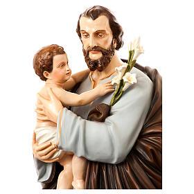 San Giuseppe con bambino 175 cm vetroresina dipinta s4