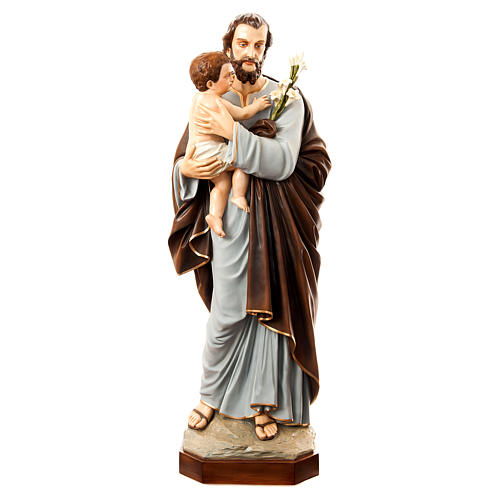 San Giuseppe con bambino 175 cm vetroresina dipinta 1