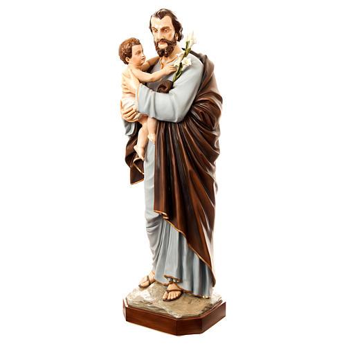 San Giuseppe con bambino 175 cm vetroresina dipinta 2
