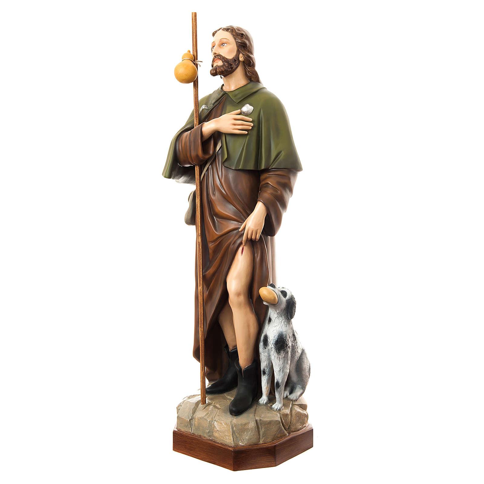 San Rocco con cane 160 cm vetroresina dipinta 4