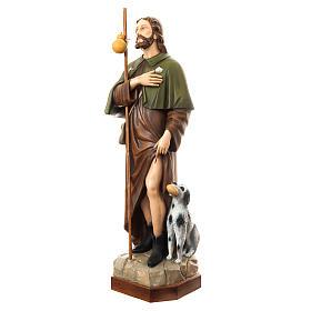 San Rocco con cane 160 cm vetroresina dipinta s2