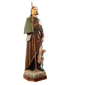 San Rocco con cane 160 cm vetroresina dipinta s3
