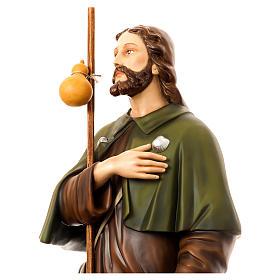 San Rocco con cane 160 cm vetroresina dipinta s4
