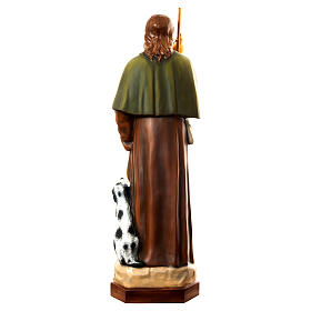 San Rocco con cane 160 cm vetroresina dipinta s5