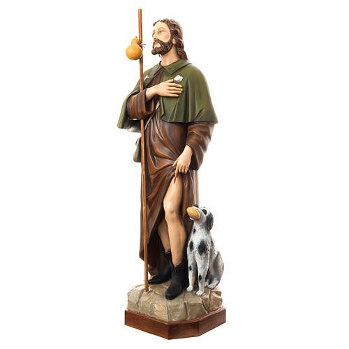 San Rocco con cane 160 cm vetroresina dipinta 2