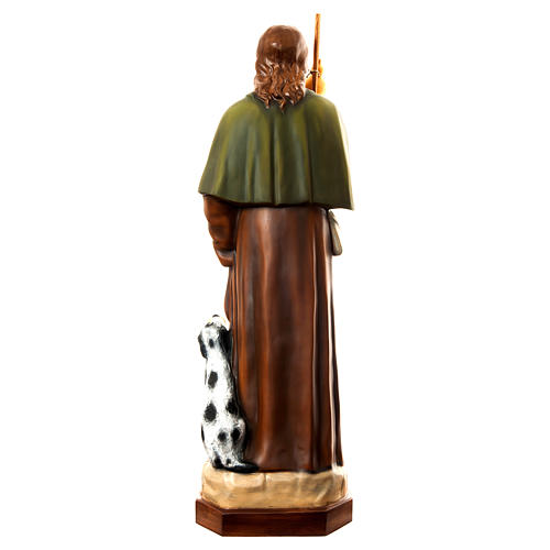 San Rocco con cane 160 cm vetroresina dipinta 5