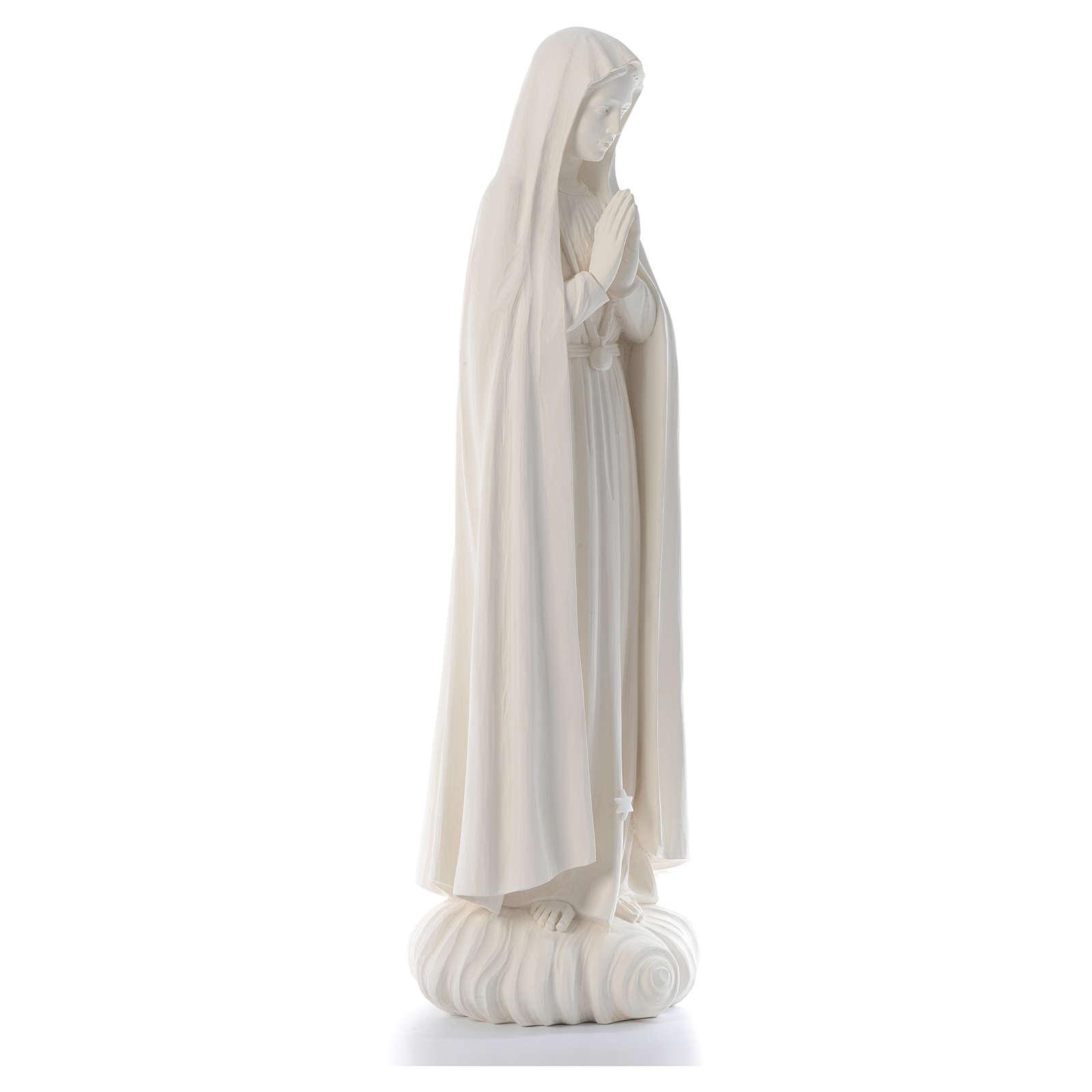 Madonna di Fatima 100 cm fibra di vetro naturale Valgardena 4