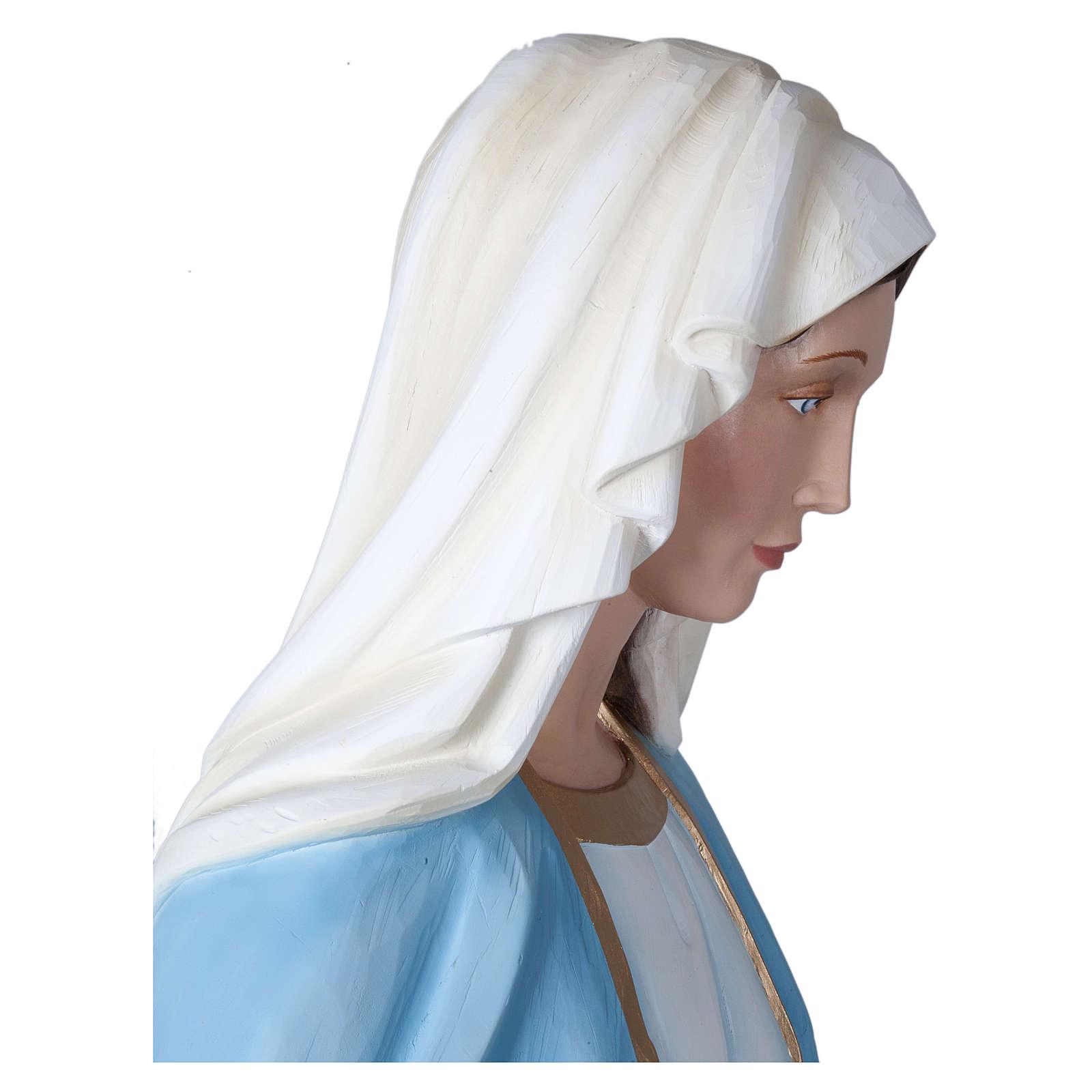 Estatua Virgen Milagrosa 160 cm fibra de vidrio PARA EXTERIOR 4