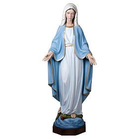 Estatua Virgen Milagrosa 160 cm fibra de vidrio PARA EXTERIOR s1