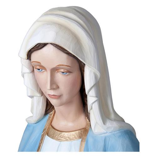 Estatua Virgen Milagrosa 160 cm fibra de vidrio PARA EXTERIOR 7