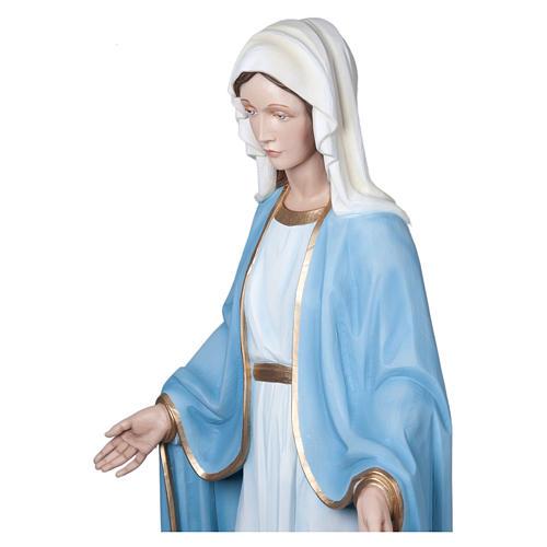 Estatua Virgen Milagrosa 160 cm fibra de vidrio PARA EXTERIOR 8