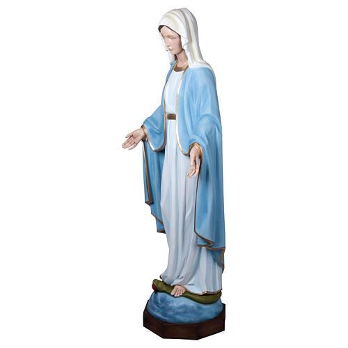 Estatua Virgen Milagrosa 160 cm fibra de vidrio PARA EXTERIOR 11