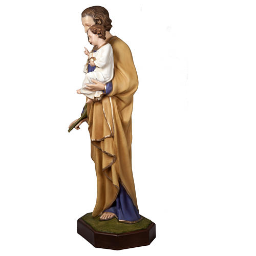 Statue of St. Joseph with Baby Jesus in fibreglass 160 cm for EXTERNAL USE 3