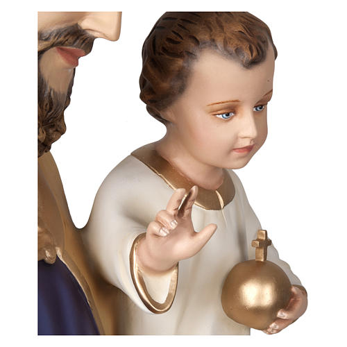 Statue of St. Joseph with Baby Jesus in fibreglass 160 cm for EXTERNAL USE 5