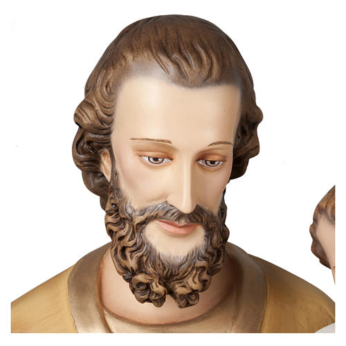 Statue of St. Joseph with Baby Jesus in fibreglass 160 cm for EXTERNAL USE 6