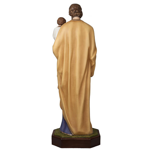 Statue of St. Joseph with Baby Jesus in fibreglass 160 cm for EXTERNAL USE 10