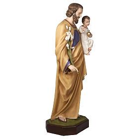 Statua San Giuseppe con Bambino 160 cm vetroresina PER ESTERNO s4