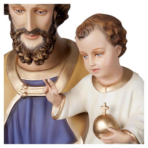 Statua San Giuseppe con Bambino 160 cm vetroresina PER ESTERNO 2