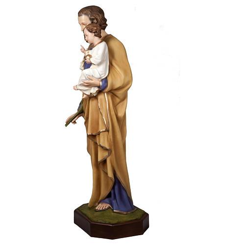 Statua San Giuseppe con Bambino 160 cm vetroresina PER ESTERNO 3