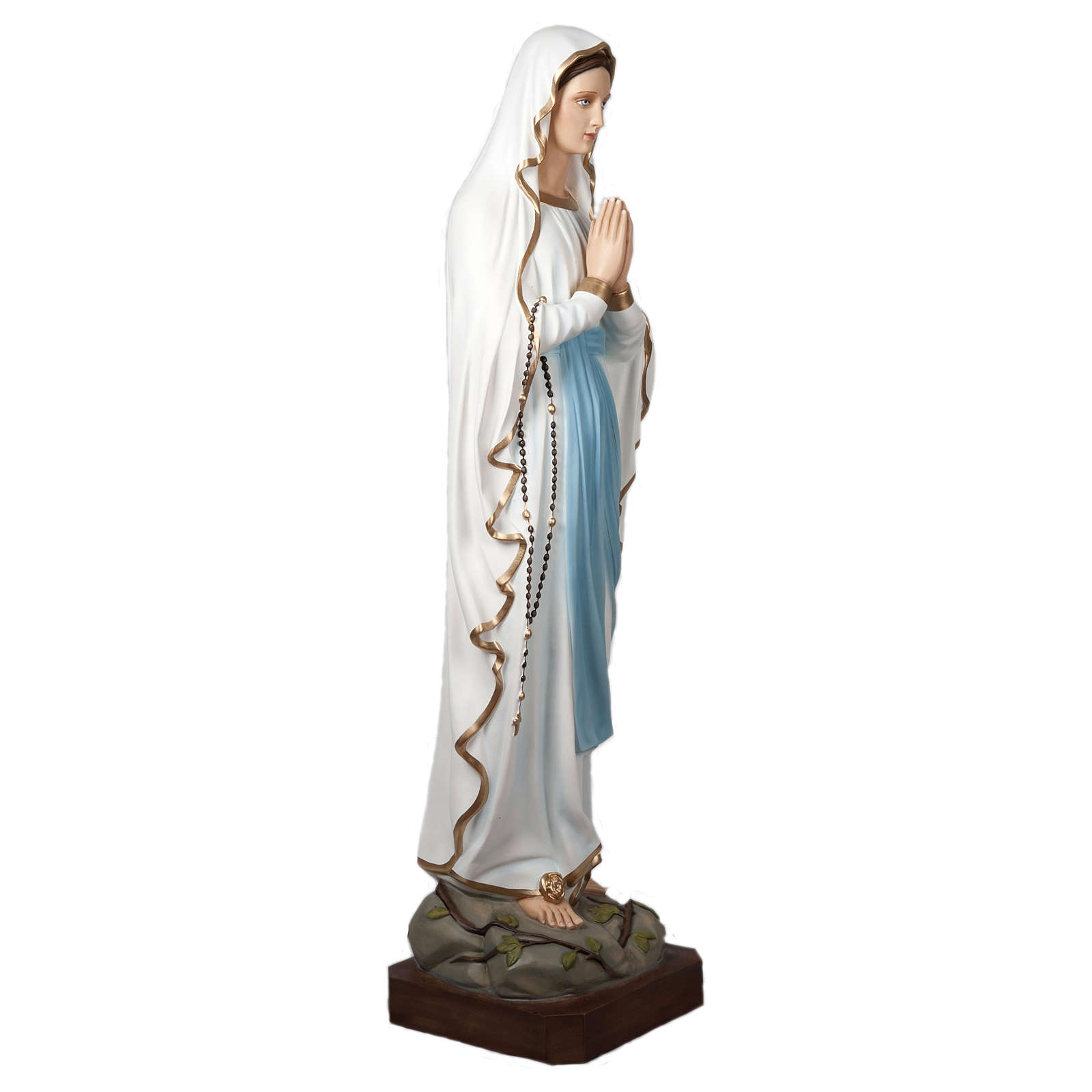 Our Lady of Lourdes Fiberglass Statue 160 cm for OUTDOORS 4