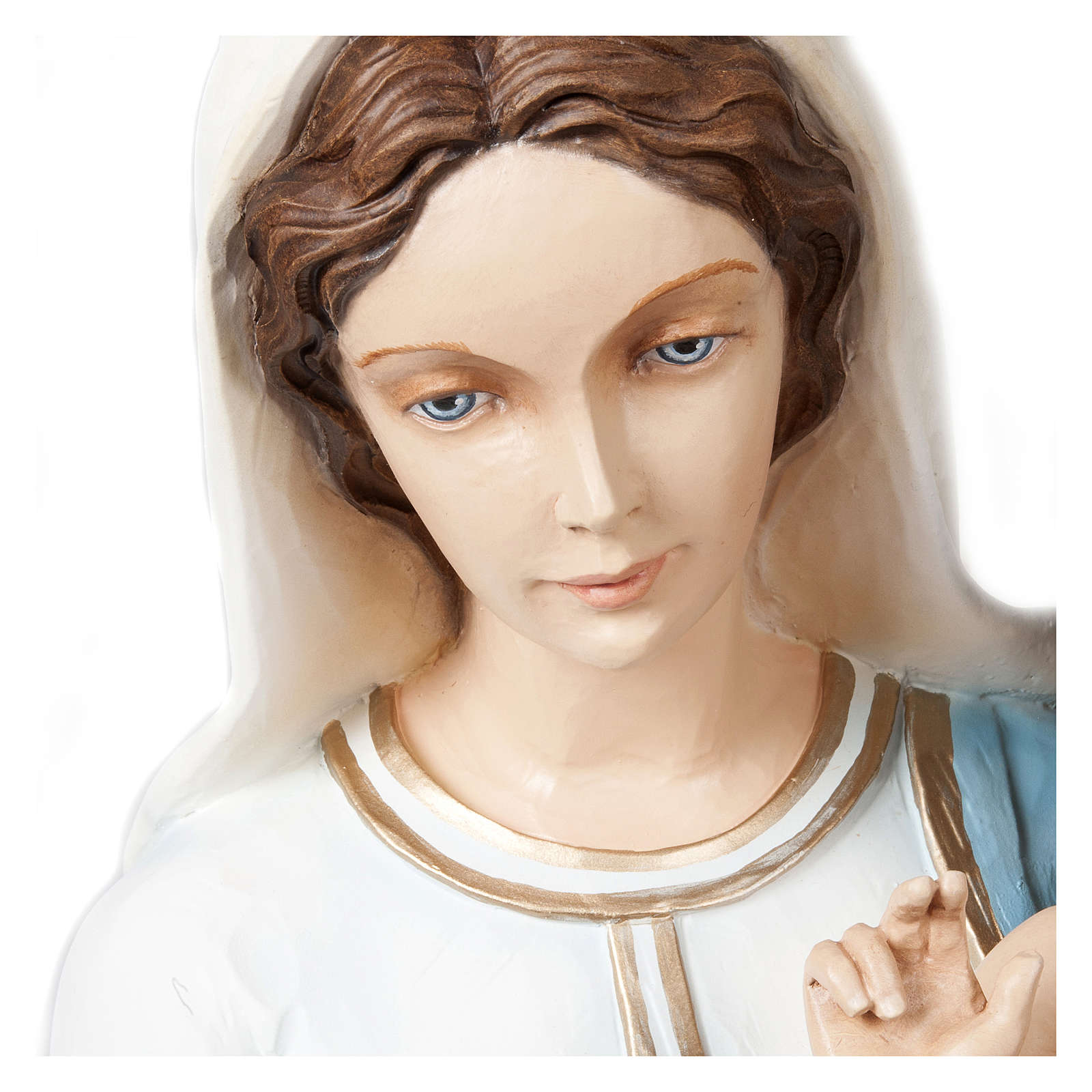 Statue of the Virgin Mary and Blessing Jesus in fibreglass 85 cm for EXTERNAL USE 4