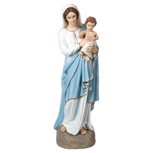 Statue of the Virgin Mary and Blessing Jesus in fibreglass 85 cm for EXTERNAL USE 1