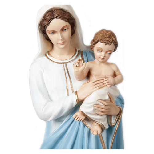 Statue of the Virgin Mary and Blessing Jesus in fibreglass 85 cm for EXTERNAL USE 2