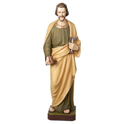 Estatua San José Trabajador 100 cm fibra de vidrio PARA EXTERIOR