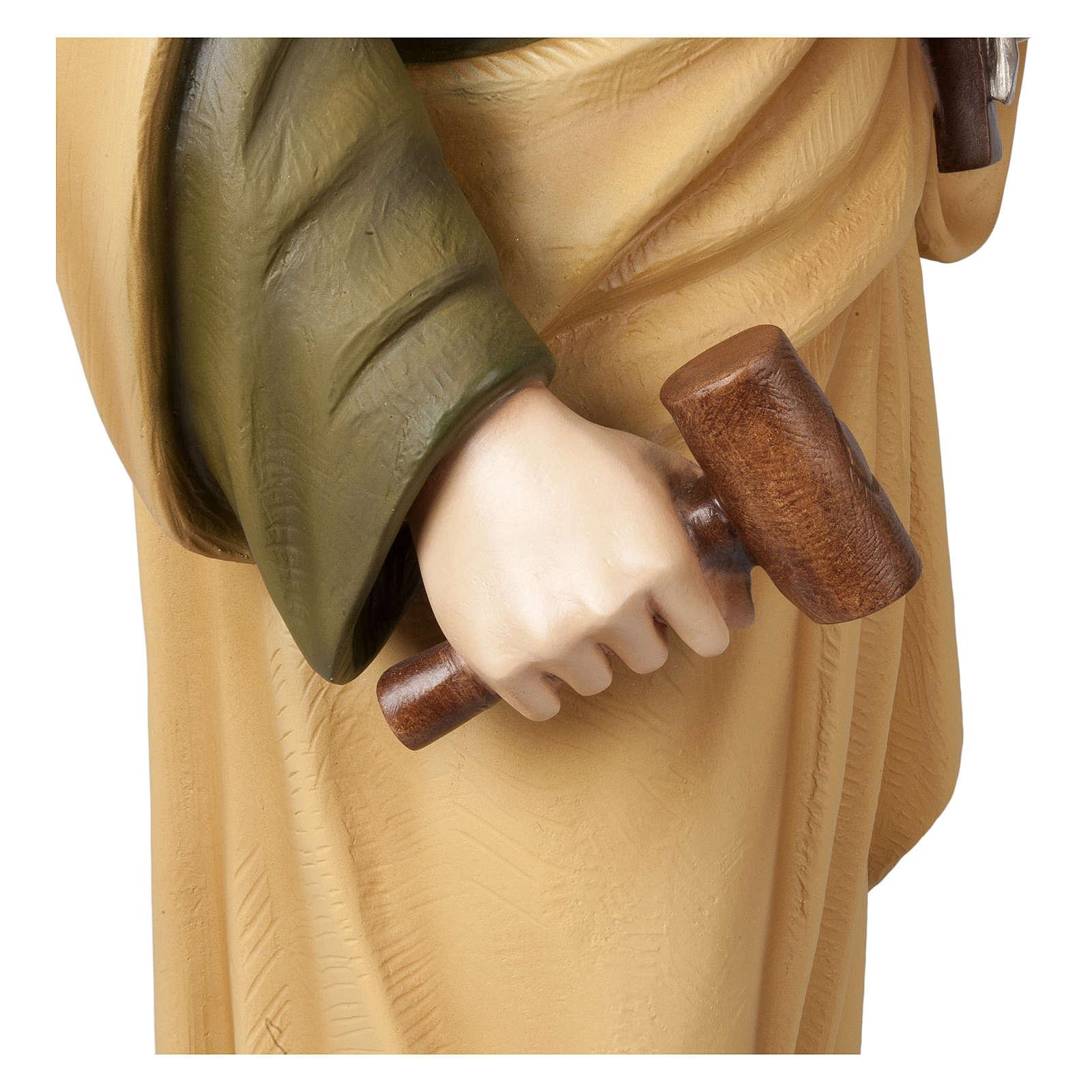 Statua San Giuseppe lavoratore 100 cm vetroresina PER ESTERNO 4