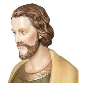 Statua San Giuseppe lavoratore 100 cm vetroresina PER ESTERNO s5