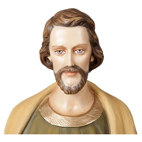 Statua San Giuseppe lavoratore 100 cm vetroresina PER ESTERNO 2