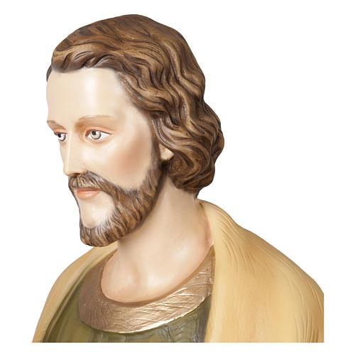 Statua San Giuseppe lavoratore 100 cm vetroresina PER ESTERNO 5