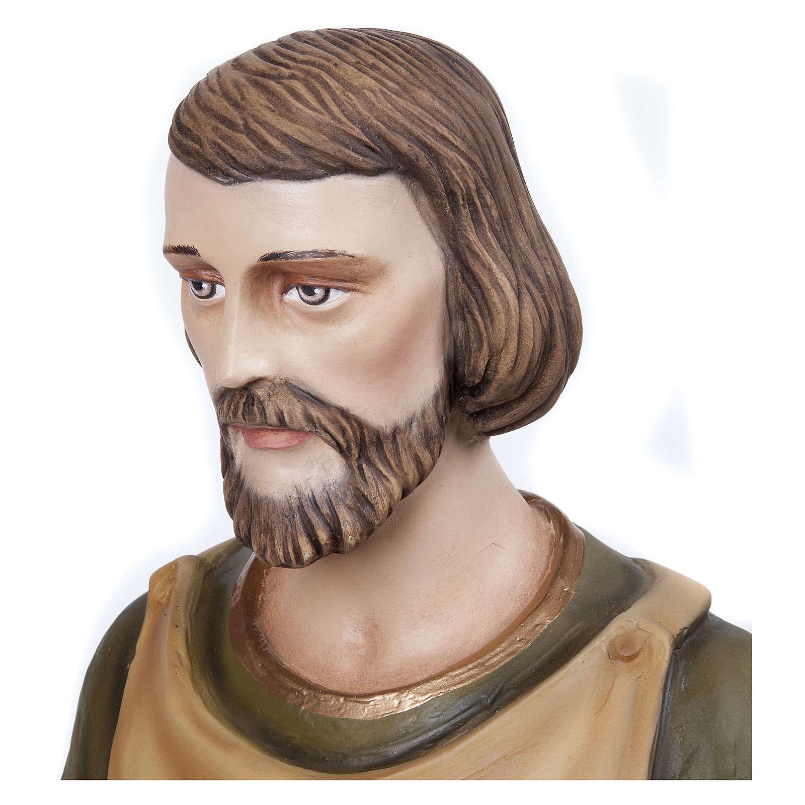 Statua San Giuseppe falegname 80 cm fiberglass PER ESTERNO 4